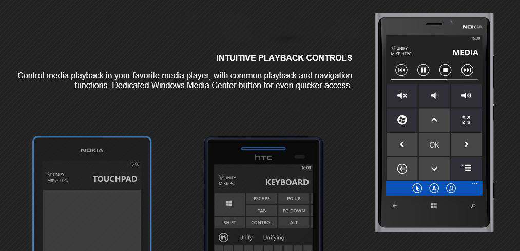 Unify Remote – Control PC using Lumia